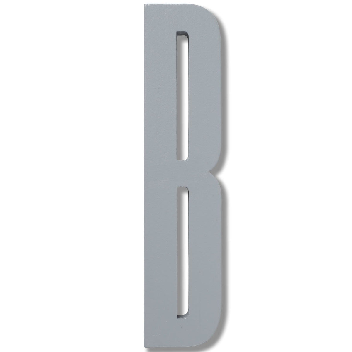 Wooden Letter B Grey