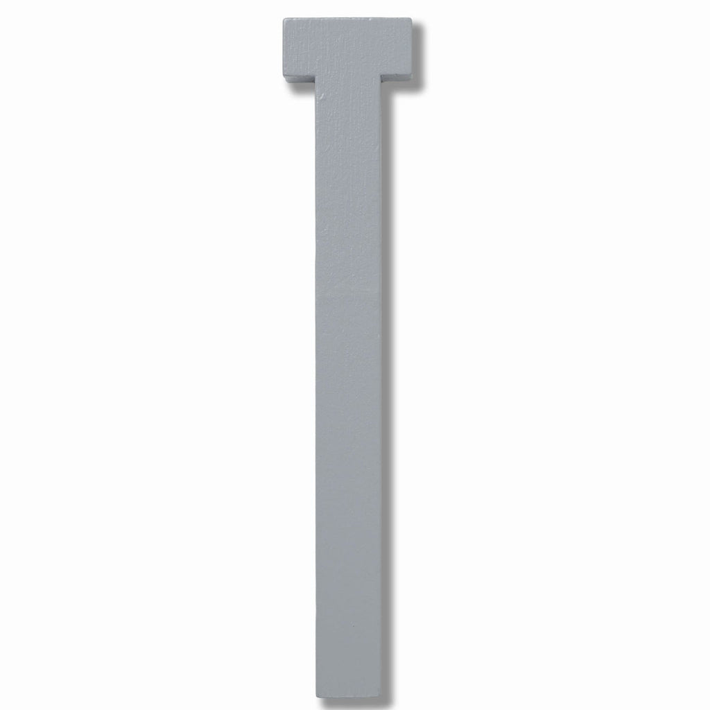 Wooden Letter T Grey