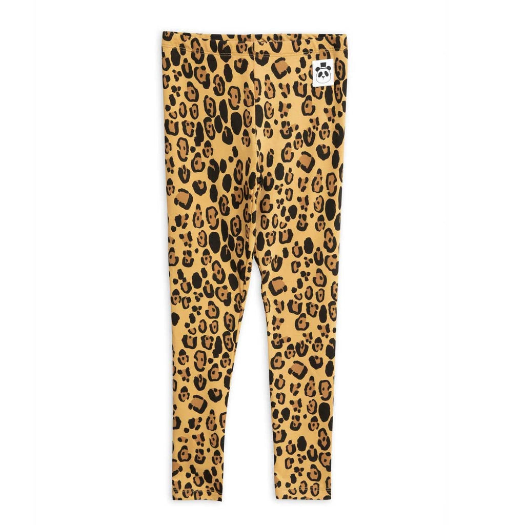 Basic Leopard Leggings Beige