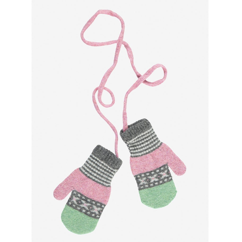 Kids Mitts Pink Mint