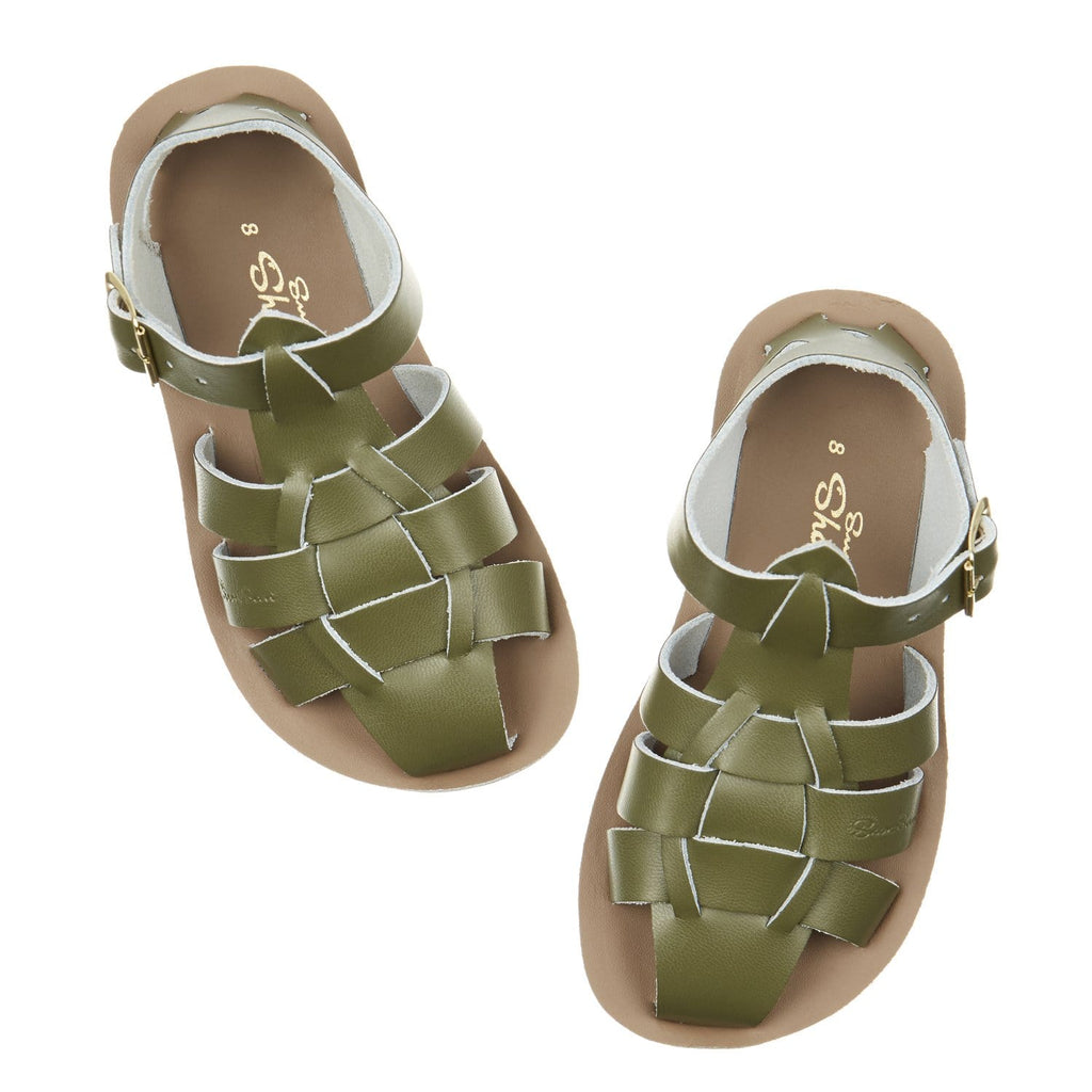 Shark Salt-Water Sandals Olive