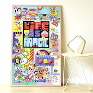 Street Art Sticker Poster