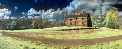 Color infrared panorama of Captain William Smith House, Concord, MA