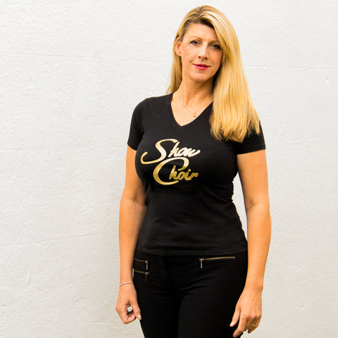 Lady-fit V Neck T-Shirt
