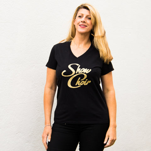 Ladies Loose-Fit V-Neck T-Shirt