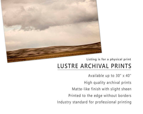 Unique Modern Landscape, Rolling Fields, Western Landscape Photography, Physical Print