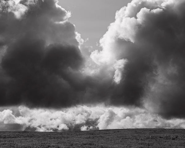 Dramatic Clouds Photograph in Black and White