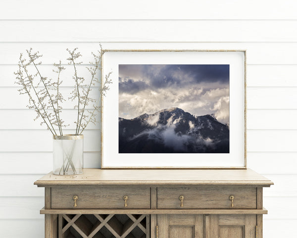 Mountain Top Photograph, Mountain Photography in Color