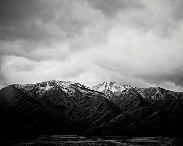 Mountain Print in Black and White, Dramatic Black and White Photograph, PHYSICAL PRINT