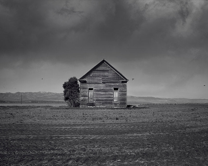 Old Farm Art Print, Barn Photography in Black and White, Dramatic Black and White, Physical Print