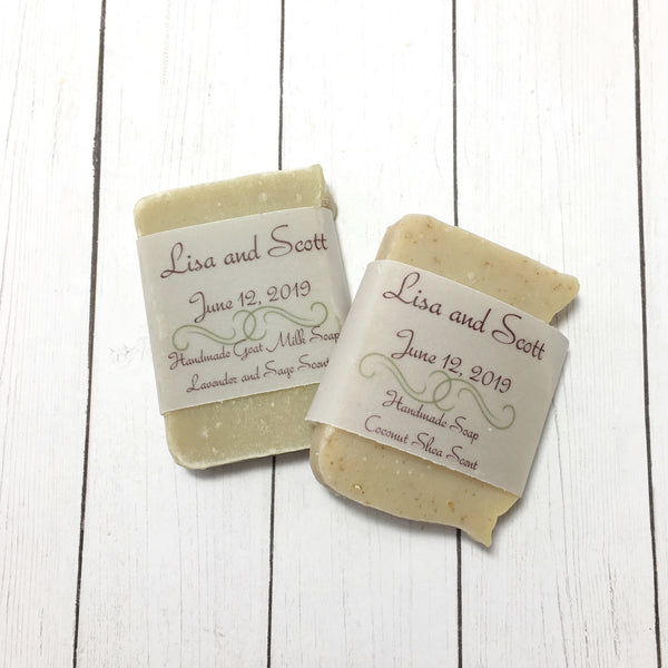Sample Size Soaps for Wedding Favors, Shower Favors, Bed and Breakfast Soaps