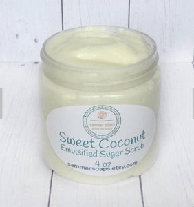 Sweet Coconut Emulsified Sugar Scrub