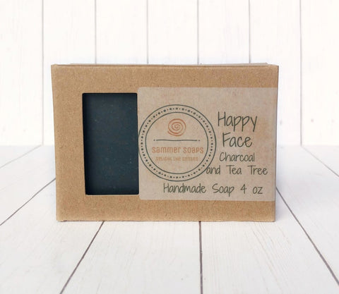 Facial Soap with Activated Charcoal and Tea Tree