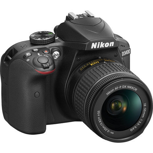 Nikon D3400 DSLR with AF-P DX 18-55mm f/3.5-5.6G  Lens