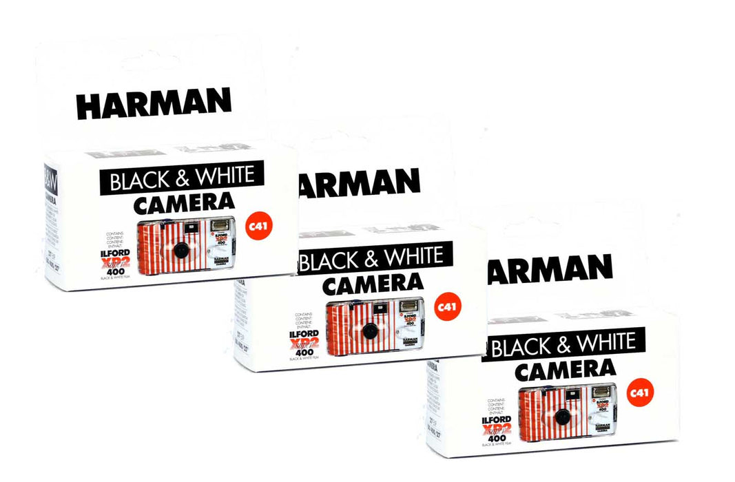 Harman Black and white single use cameras XP2-24 shots 3 pack