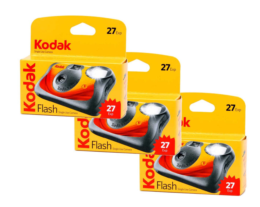 Kodak single use cameras 400-27 shots 3 pack