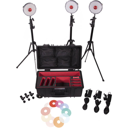 Rotolight NEO 3 Light Kit (Includes Color FX Filters, Stands, Hard Wheel Case)