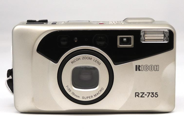 Ricoh RZ-735 film camera with case and instructions