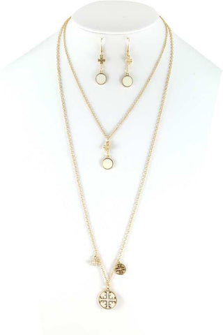 Ivory and Gold necklace set