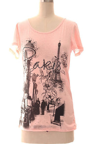 Paris Printed Top