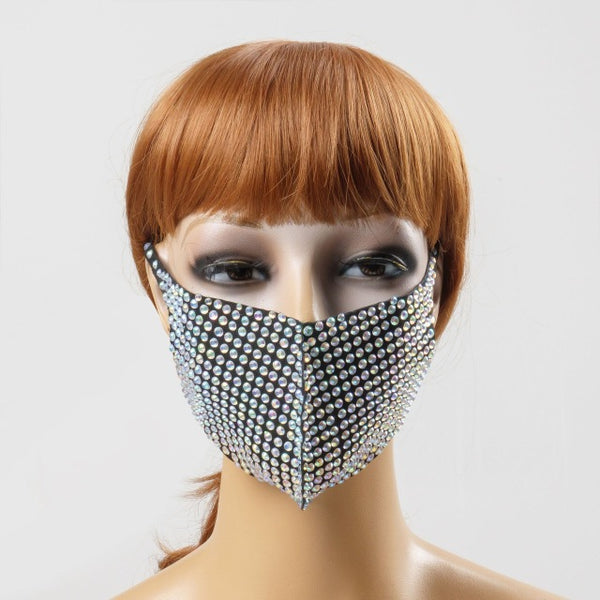 XX LOVE Rhinestone Fashion Face Mask