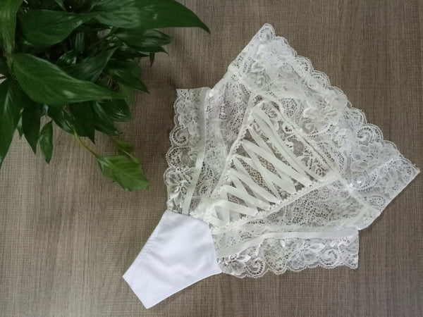 Cee Cee High Waist Lace Up Panties
