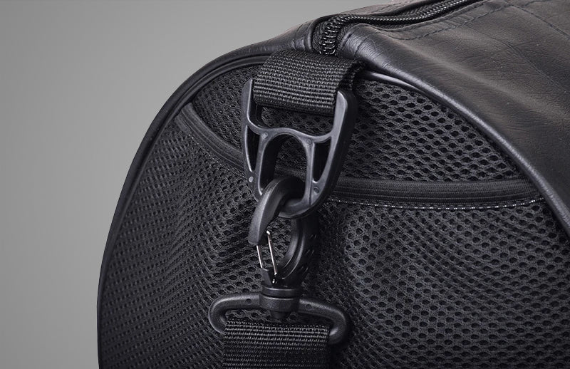Close view of DMOOSE workout bag which is used for carrying workout equipments
