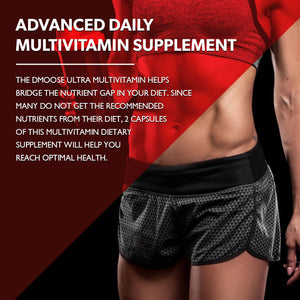 Ultra Multivitamin for Women, Advanced Daily Multivitamin Dietary Supplement, Ultra Potency, Antioxidant Formula, Strengthen Immunity, 60 Capsules