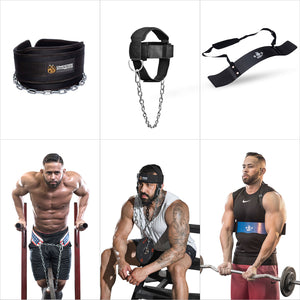 Upper Body Makeover Bundle | Arm Blaster | Neck Harness | Dip Belt