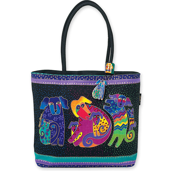 "Laurel Burch ""Dogs and Doggies"" Shoulder Tote"