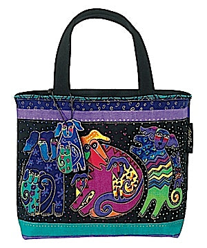 "Laurel Burch ""Dogs and Doggies"" Small Tote"