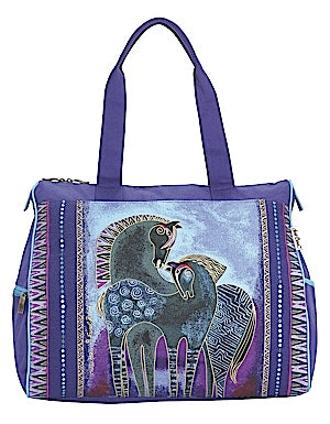 "Laurel Burch ""Indigo Horses"" Shoulder Tote"