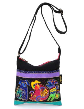 "Laurel Burch ""Dogs and Doggies"" Crossbody"