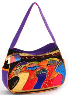 "Laurel Burch ""Sky Spirits"" Medium Hobo"