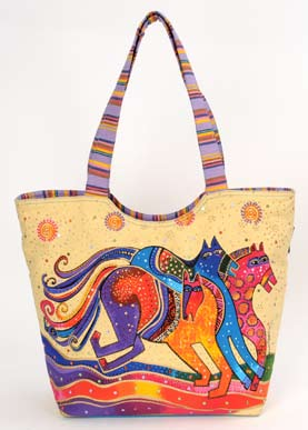 "Laurel Burch ""Dancing Horses"" Scoop Tote"