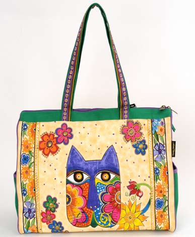 "Laurel Burch ""Blossoming Feline"" Travel Bag"