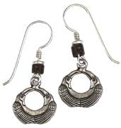 "Laurel Burch ""Soaring Crane"" Drop Earrings, Antiqued Silver."