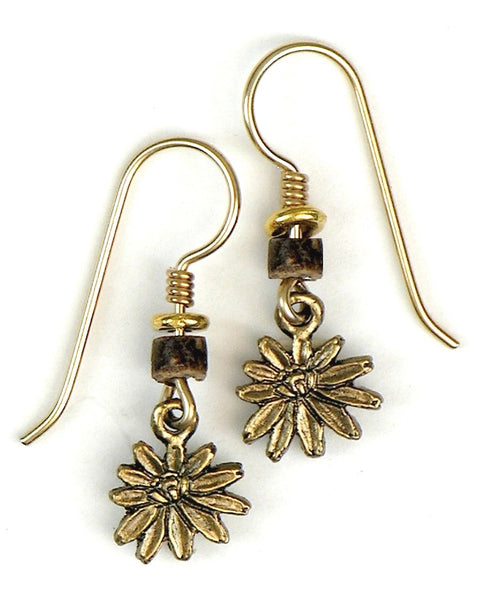 "Laurel Burch ""Pond Lilies"" Drop Earrings, Antiqued Gold"