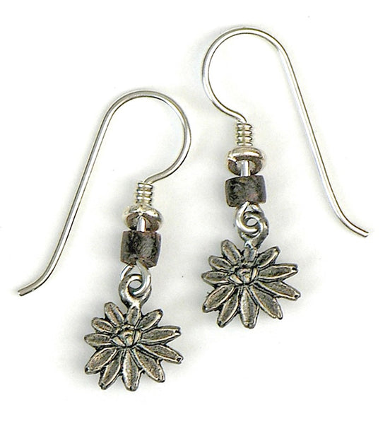 "Laurel Burch ""Pond Lilies"" Drop Earrings, Antiqued Silver"