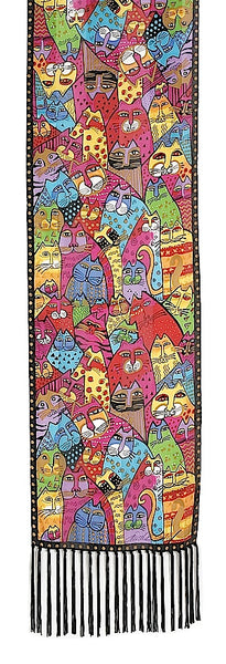 "Laurel Burch ""Whiskers"" Silk Scarf"