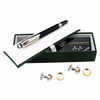 Christal Head Pen & Circle Cufflinks Business Set - MUSEAE