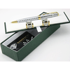 Silver Gold Pen & Cufflinks Business Set - MUSEAE