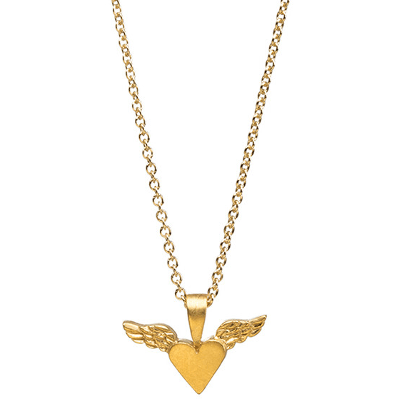 Necklace Heart Wings Gold Dipped - MUSEAE