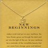 Necklace Lotus New Beginnings Gold Dipped - MUSEAE
