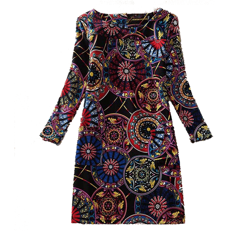 Dress Long Sleeves Vera Sun Flower - MUSEAE