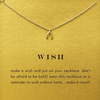 Necklace Wishbone Gold Dipped - MUSEAE