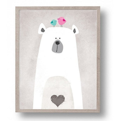 Canvas Frame-Less - Lovely Bear Frame-Less Canvas