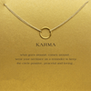 Necklace Karma Circle Gold Dipped - MUSEAE