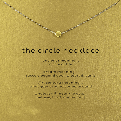 Necklace Circle Gold Dipped - MUSEAE