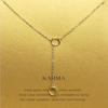 Necklace Two Circles Karma Gold Dipped - MUSEAE